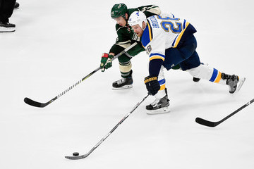 Kyle Brodziak St Louis Blues v Minnesota Wild - Game One