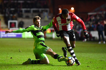Kyle Edwards Exeter City v Forest Green - The Emirates FA Cup Second Round Replay
