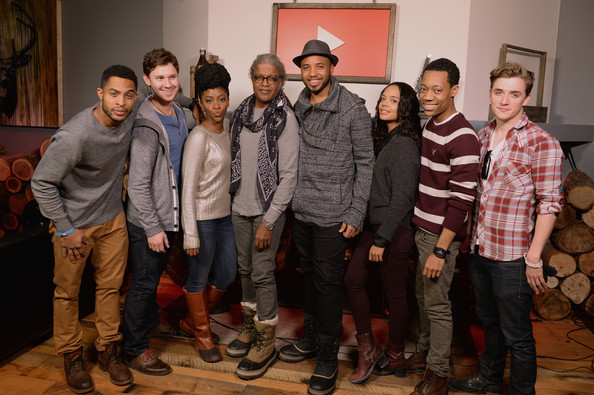 'Dear White People' Reception at Park City [dear white people,social group,event,youth,team,art,brandon p bell,justin simien,tessa thompson,teyonah parris,justin dobies,kyle gallner,youtube,park city,dear white people reception]