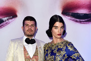 Eli Mizrahi and Crystal Renn attends the L'Oreal Paris Blue Obsession Party at the annual 69th Cannes Film Festival at Hotel Martinez on May 18, 2016 in Cannes, France.