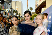 "(L-R) Alexa Demie, Barbie Ferreira and Sydney Sweeney attend the LA Premiere of HBO's ""Euphoria"" at The Cinerama Dome on June 04, 2019 in Los Angeles, California."