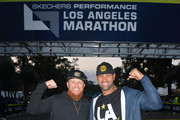 Justin Turner (L) and Albert Pujols attend LA Celebrates The 34th Running Of The Skechers Los Angeles Marathon on March 24, 2019 in Los Angeles, California.