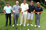 Former NBA player Reggie Theus (C) and guests attend LA Clippers Foundation Charity Golf Classic on October 24, 2016 in Pacific Palisades, California.