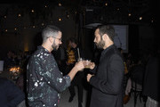Mario Gonzalez and Benjamin Millepied attend LA Dance Project's 2019 Fundraising Gala on October 19, 2019 in Los Angeles, California.
