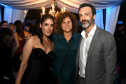 "(L-R) Alicia Coppola, Mindy Schultheis and Reid Scott pose at the after party for the premiere of CBS All Access ' ""Why Women Kill"" at the Wallis Annenberg Center on August 07, 2019 in Beverly Hills, California."