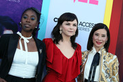 """(L-R) Kirby Howell-Baptiste, Ginnifer Goodwin and Lucy Liu attend the LA Premiere of CBS All Access' """"Why Women Kill"""" at Wallis Annenberg Center for the Performing Arts on August 07, 2019 in Beverly Hills, California."""