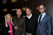 """(L-R) Jacki Weaver, Sir Ben Kingsley, Michael Wright, and Jimmi Simpson attend the LA premiere of Epix's """"Perpetual Grace, LTD"""" at Linwood Dunn Theater on May 21, 2019 in Los Angeles, California."""