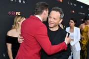 "(L-R) Dan Stevens and Noah Hawley attend the LA premiere of FX's ""Legion"" Season 3 at ArcLight Hollywood on June 13, 2019 in Hollywood, California."