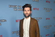 "Adam Scott attends the premiere of Netflix's ""Between Two Ferns: The Movie"" at ArcLight Hollywood on September 16, 2019 in Hollywood, California."