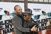 "Mike Epps and Jerry Jones attend the LA Premiere Of Netflix's ""Dolemite Is My Name"" at Regency Village Theatre on September 28, 2019 in Westwood, California."