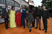"(L-R) Ron Cephas Jones, Da'Vine Joy Randolph, Luenell, Craig Brewer, Keegan-Michael Key, Craig Robinson, Mike Epps, Eddie Murphy, Wesley Snipes, Tituss Burgess, and Bob Odenkirk attend the LA premiere of Netflix's ""Dolemite Is My Name"" at Regency Village Theatre on September 28, 2019 in Westwood, California."