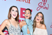 """Kiernan Shipka, Odeya Rush and Isabela Moner attend the premiere of  Netflix's """"Let It Snow"""" at Pacific Theatres at The Grove on November 04, 2019 in Los Angeles, California."""