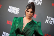 """Chrissie Fit attends the LA premiere of Netflix's """"Murder Mystery"""" at Regency Village Theatre on June 10, 2019 in Westwood, California."""