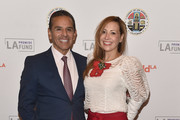 "Former Los Angeles Mayor Antonio Villaraigosa and Patricia Govea attend the LA Promise Fund's ""Girls Build Leadership Summit"" at The Los Angeles Convention Center on December 15, 2017 in Los Angeles, California."