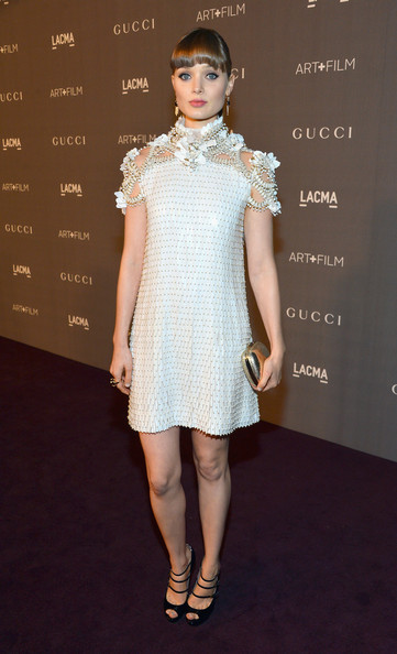 Actress Bella Heathcote arrives at LACMA 2012 Art + Film Gala Honoring Ed Ruscha and Stanley Kubrick presented by Gucci at LACMA on October 27, 2012 in Los Angeles, California.