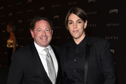 LACMA Trustee Bobby Kotick (L) and producer Megan Ellison attend LACMA 2015 Art+Film Gala Honoring James Turrell and Alejandro G Iñárritu, Presented by Gucci at LACMA on November 7, 2015 in Los Angeles, California.
