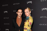 Actress Chloe Sevigny (R) and director Ricky Saiz attends LACMA 2015 Art+Film Gala Honoring James Turrell and Alejandro G Iñárritu, Presented by Gucci at LACMA on November 7, 2015 in Los Angeles, California.