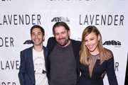 (L-R) Justin Long, Ed Gass-Donnelly and Abbie Cornish attend the LAVENDER Afterparty at Tribeca Film Festival 2016 on April 18, 2016 in New York City.