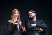 Abbie Cornish andf Ed Gass-Donnelly speak at the LAVENDER World Premiere at Tribeca Film Festival 2016 on April 18, 2016 in New York City.