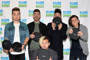 "(EXCLUSIVE COVERAGE) (L-R) Juan Pablo, Hector Rodriguez, Tomas Slemenson, Ismael Cano and Matt Rey of band ""LOS 5"" visit ""The Elvis Duran Z100 Morning Show"" at Z100 Studio on March 1, 2016 in New York City."