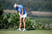 Lexi Thompson of United States plays a putt on the 6th hole during the final round of the LPGA KEB Hana Bank Championship at Sky 72 Golf Club on October 14, 2018 in Incheon, South Korea.