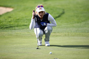 Lexi Thompson of United States looks over a green  on the 18th hole during the first round of the LPGA KEB Hana Bank Championship at Sky 72 Golf Club on October 11, 2018 in Incheon, South Korea.