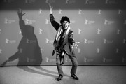 """Image has been converted to black and white.)  Geraldine Chaplin poses the """"La Fiera Y La Fiesta"""" (Holy Beasts) photocall during the 69th Berlinale International Film Festival Berlin at Grand Hyatt Hotel on February 13, 2019 in Berlin, Germany."""