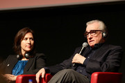 """Margaret Bodde and Martin Scorsese at the """"La dolce vita"""" press conference during The 5th International Rome Film Festival at Auditorium Parco Della Musica on October 30, 2010 in Rome, Italy."""