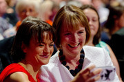 Johanna Baxter (L), Harriet Harman (R) take a selfie before Labour Leader Jeremy Corbyn delivers his first leadership speech on September 29, 2015 in Brighton, England. The four day annual Labour Party Conference takes place in Brighton and is expected to attract thousands of delegates with keynote speeches from influential politicians and over 500 fringe events.