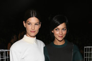 Hanneli Mustaparta (L) and Leigh Lezark attend the Lacoste fashion show during Mercedes-Benz Fashion Week Spring 2014 at The Theatre at Lincoln Center on September 7, 2013 in New York City.