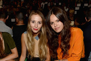 Models Harley Viera Newton and Atlanta de Cadenet Taylor attend the Lacoste Spring 2013 fashion show during Mercedes-Benz Fashion Week at The Theatre, Lincoln Center on September 8, 2012 in New York City.