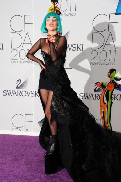 Lady Gaga Lady Gaga attends the 2011 CFDA Fashion Awards at Alice Tully Hall, Lincoln Center on June 6, 2011 in New York City.