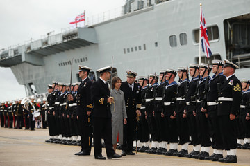 Lady Sarah Chatto HMS Illustrious Decommissioning Ceremony