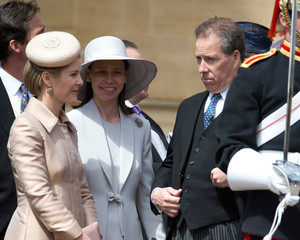 Lady Sarah Chatto Queen Elizabeth II and Members Of The Royal Family Attend The Order Of The Garter Service