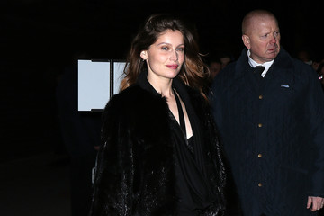 Laetitia Casta Arrivals at the Givenchy Show