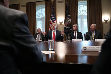 Lamar Alexander President Trump Meets With Congressional Leaders On Immigration In The Oval Office