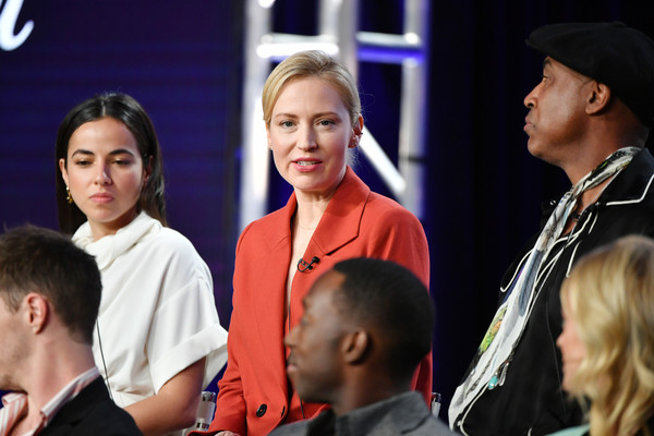 2020 Winter TCA Tour - Day 8 [event,youth,fashion,human,performance,conversation,competition event,fashion design,team,crowd,68 whiskey,cristina rodlo,beth riesgraf,lamont thompson,l-r,pasadena,the langham huntington,winter tca,paramount network,segment,beth riesgraf,lamont thompson,cristina rodlo,photography,getty images,stock photography,68 whiskey,paramount network,royalty-free]