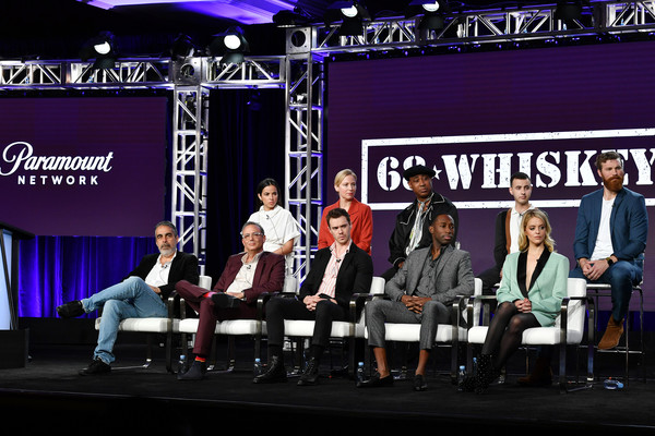 2020 Winter TCA Tour - Day 8 [event,stage,performance,talent show,musical theatre,heater,performing arts,team,stage equipment,beth riesgraf,cristina rodlo,roberto benabib,michael lehmann,sam keeley,l-r,top row,bottom row,pasadena,winter tca,beth riesgraf,jeremy tardy,sam keeley,68 whiskey,photography,photograph,stock photography,image,paramount network]