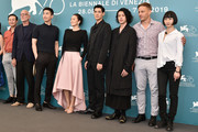 "(from second left) Pascal Greggory, Gong Li, guest, Joe Odagiri, Tom Wlaschiha and Huang Xiangli attend the ""Lan Xin Da Ju Yuan"" (Saturday Fiction) photocall during the 76th Venice Film Festival on September 04, 2019 in Venice, Italy."