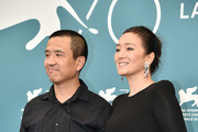 "Director Lou Ye and Gong Li attend ""Lan Xin Da Ju Yuan"" (Saturday Fiction) photocall during the 76th Venice Film Festival on September 04, 2019 in Venice, Italy."