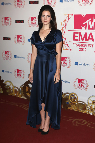 Lana Del Rey Singer Lana Del Ray attends the MTV EMA's 2012 at Festhalle Frankfurt on November 11, 2012 in Frankfurt am Main, Germany.