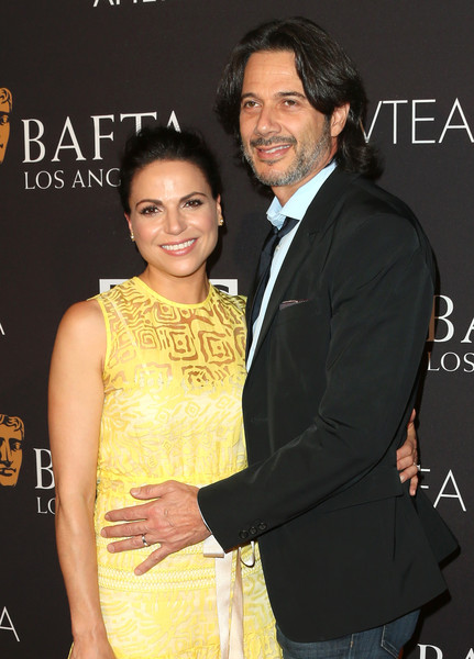 Fred Di Blasio with wife Lana Parrilla at 2015 BAFTA Los Angeles