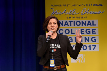 Lana Parrilla MTV's 2017 College Signing Day with Michelle Obama - Inside
