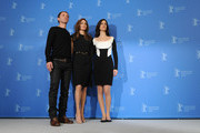 """(L-R)  Actor Goran Kostic, director Angelina Jolie and actress Zana Marjanovic attend the """"In The Land Of Blood And Honey"""" Photocall during day three of the 62nd Berlin International Film Festival at the Grand Hyatt on February 11, 2012 in Berlin, Germany."""