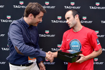 Landon Donovan TAG Heuer Is the Official Timekeeper of the 9th Edition Steve Nash Foundation Showdown New York With Landon Donovan and David Villa