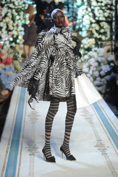 A model walks the runway during the Lanvin for H&M Haute Couture Show at The Pierre Hotel on November 18, 2010 in New York City.