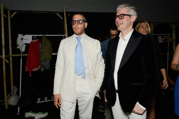 Lapo Elkann Andrea Tessitore Italia Independent: Backstage - MBFWI Presented By American Express Fall/Winter 2014