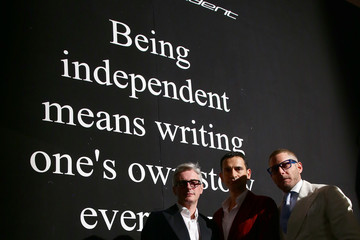 Lapo Elkann Andrea Tessitore VIP Guests: Day 5 - MBFWI Presented By American Express Fall/Winter 2014