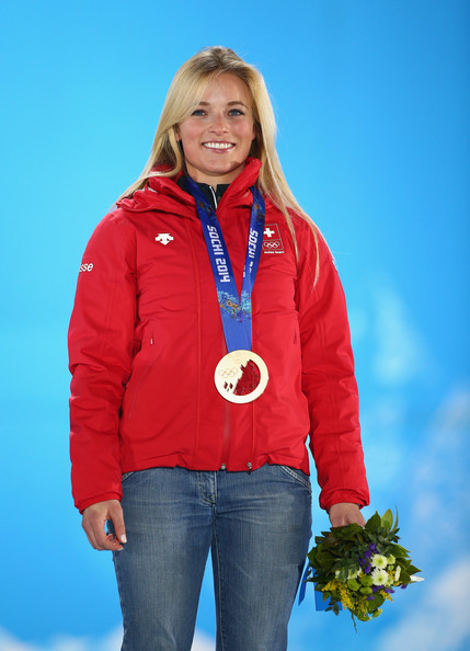Lara Gut Pictures Medal Ceremony Winter Olympics Day 5