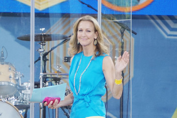 Lara Spencer Enrique Iglesias Performs in NYC